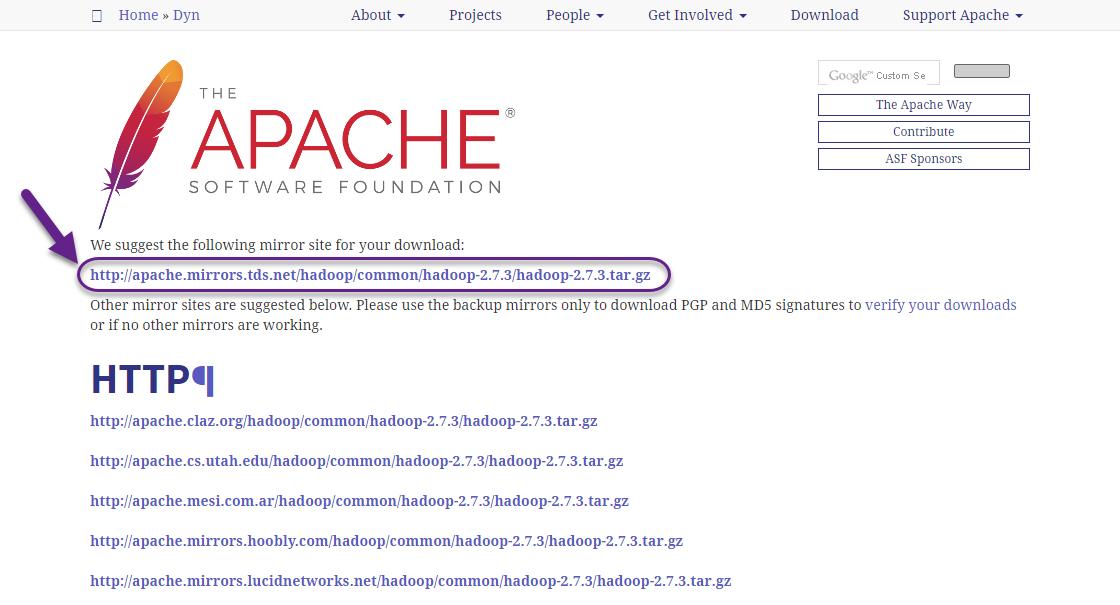 Wybór wersji Apache Hadoop