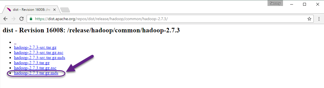 Link z biblioteką Hadoop
