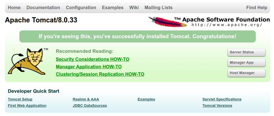 Tomcat_startpage