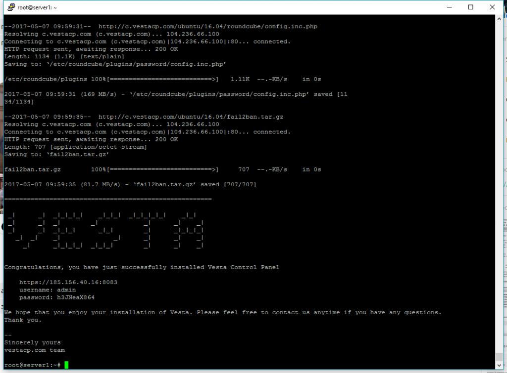 VestaCP - instalacja skryptu na serwerze
