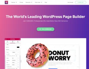 Kreator Elementor, WordPress