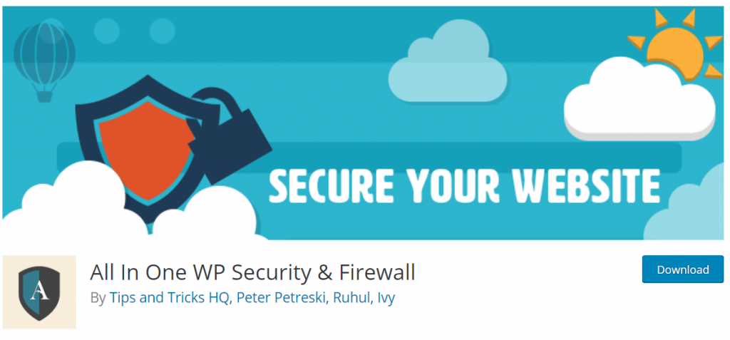 All In One WP Security & Firewall – WordPress plug