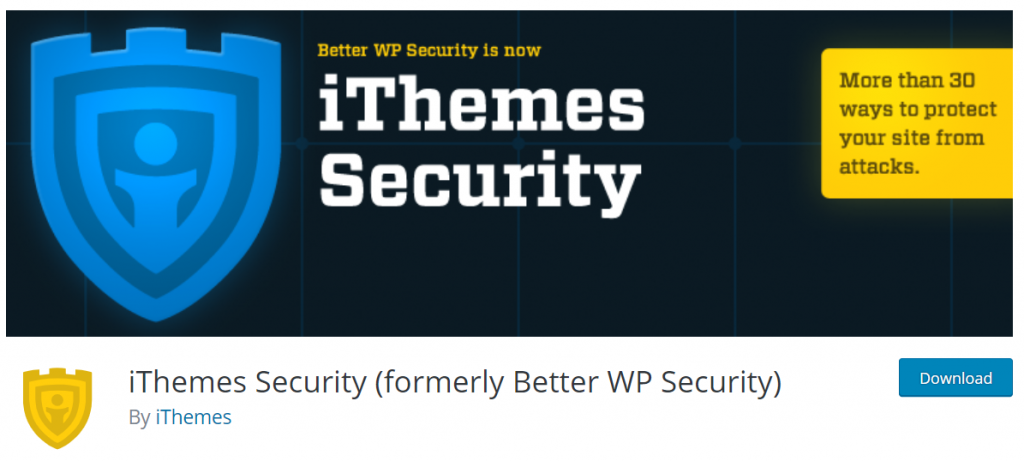 iThemes Security (formerly Better WP Security) – W
